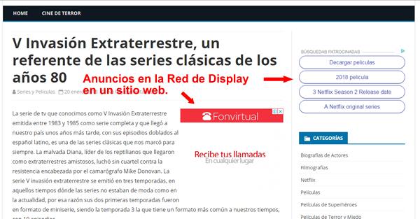 ejemplo adwords red de display
